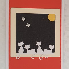 Greeting Card - 'Cat's on the Window Sill'