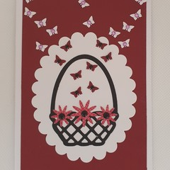 Greeting Card - 'Basket of Butterfly's'