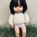 Cream Chunky Knit Sweater for 38cm Miniland