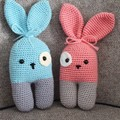 Mr. & Mrs. Barney, the Crochet Bunny Toys