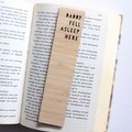 Personalised Bookmark ADD NAME Custom Made Gift, Custom Made, Bamboo Bookmark
