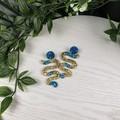 Cleopatra Winding Road - Glittering - Drop Resin - Stud Dangle earrings