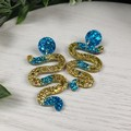 Cleopatra Winding Road - Glittering - Drop Resin - Stud Dangle earrings