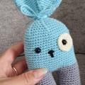 Handmade Crochet Bunny Toys, Bunny Amigurumi, Soft Bunny Toy
