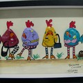 "Pebble Art ""Marinated Chickens"""