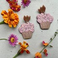 Polymer clay - statement earrings Cupcake