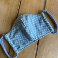 Non-surgical face mask Blue and cream spots 3 Layers of cotton