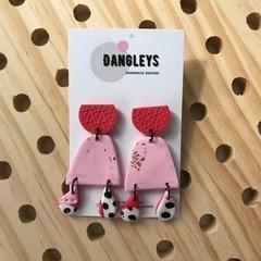 Organic Dangleys with Stud and mini drops