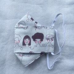 Fabric Face Mask - Women's - Hipster girl print