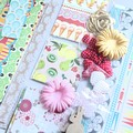 Lucky Dip Craft Pack, Pretty Paper Offcuts, Fabric, Wood & Bamboo Embellishments