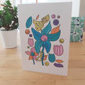 Pastel Flowers - A6 Greeting Card