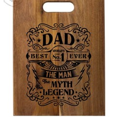 Father's Day Personalised Acacia Boards - Lots of Designs