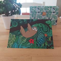 Sloth - A6 Greeting Card