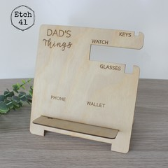 Father's Day Dad's Things holder - Personalised