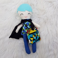 Handmade super hero tooth fairy doll