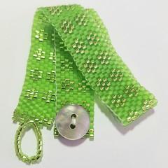 Spring Green Woven Bracelet
