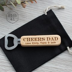 Father's Day Bottle Opener Personalised