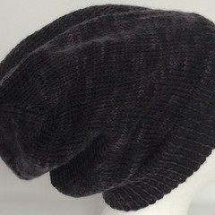 Unisex adult pure wool hand knit  Slouchy/beanie