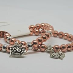 Double pack Rose gold Bracelet