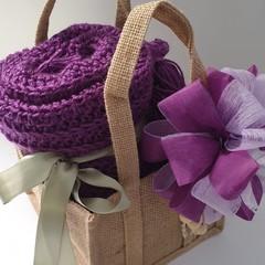 Purple Crochet Blanket