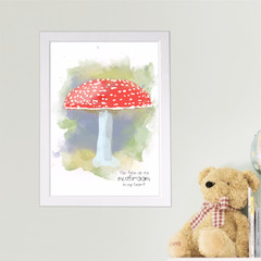 'You take up so Mushroom' Watercolour Digital Painting, Instant Download
