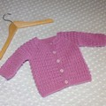 Musk Pink Baby Jacket Crocheted
