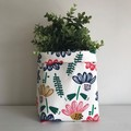 Large fabric planter | Storage basket | FLORAL