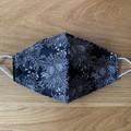 Face Mask - Black Botanical