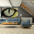 Small Fine Art Print of Original Cats Eye Drawing - Affordable w. FREE AU POST