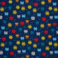 Space Invaders (Pew Pew) - Pleated Face Mask