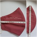 100% cotton Triple Layer Face Mask with inner insert pocket - Dark Rose