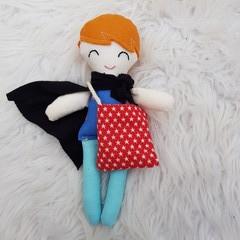 Handmade super hero tooth fairy doll