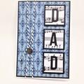 Dad Card - Blue pattern
