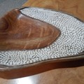 textured camphor laurel bowl