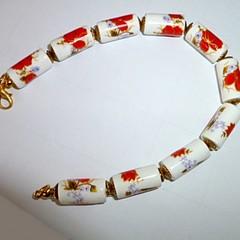 Cottage style porcelain bracelet
