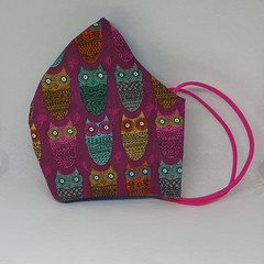 Owl fitted face mask Adults Womens