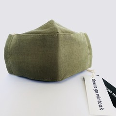 Linen Cotton Blend Face Mask.  Adult Size M