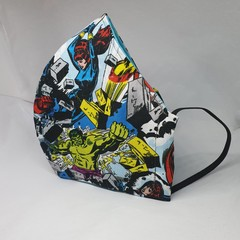 MARVEL SUPERHEROES  face mask fitted Mens (XL)
