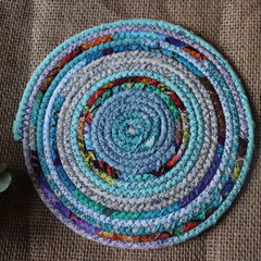 Small Rope Heat pads- Blue Tropical Mix