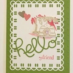 Hello My Friend Card -  friendship Free Post