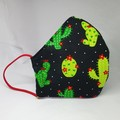 Cactus fitted face mask  - Womens Adult