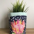 PRE ORDER | Small fabric planter | Storage basket | FLORAL CONFETTI