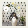 Nisse | Gnome : Mothi | Orchid | H:30cm