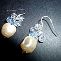 Czech glass baroque and crystal earrings