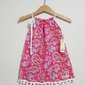 Pink Paisley Girls Pillowcase Dress Size 0