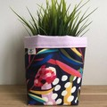 PRE ORDER | Small fabric planter | Storage basket | NAVY PROTEA