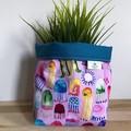 PRE ORDER | Small fabric planter | Storage basket | JELLYFISH