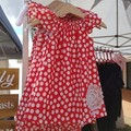Girls Red Linen Flutter Sleeve Dress Size 3 & 5