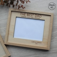 Photo Frame Personalised Father's Day - 2 Sizes