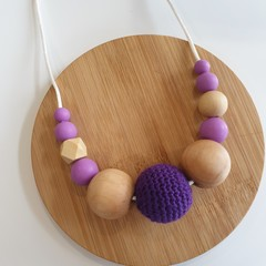 Purple Rocks Ladies Necklace